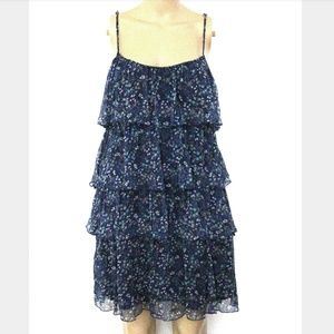 ABS 4, Tiered Floral Ruffled Mini